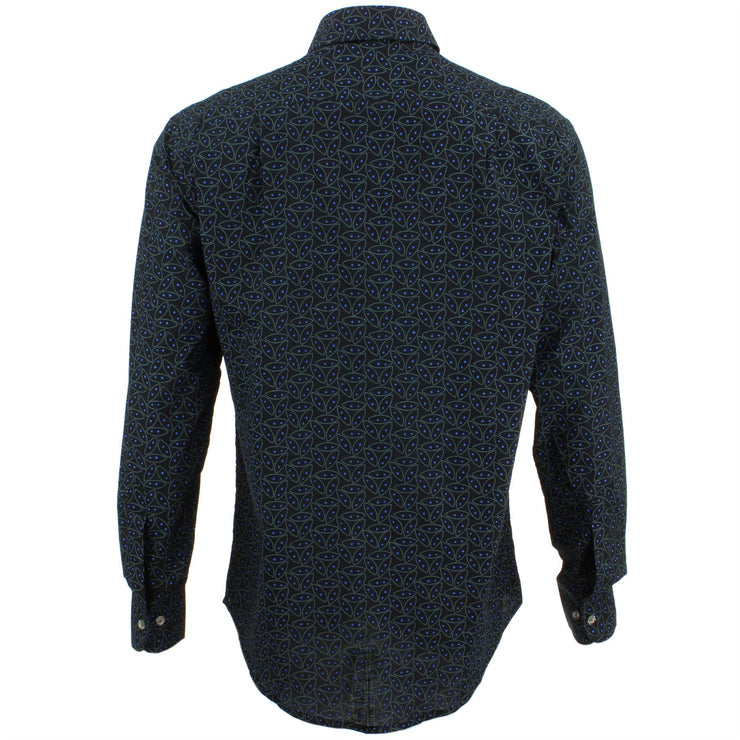 Regular Fit Long Sleeve Shirt - Black Abstract Seedpods