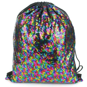 Sequin Drawstring Bag - Rainbow