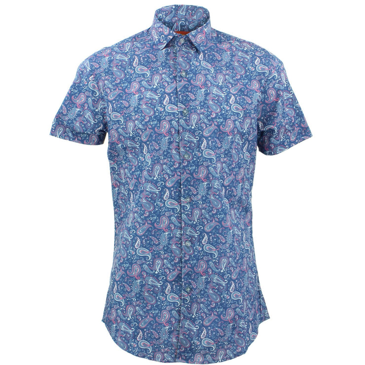 Tailored Fit Short Sleeve Shirt - Fish Tail Paisley