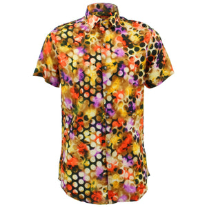 Tailored Fit Short Sleeve Shirt - Nebula Dots