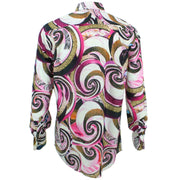 Regular Fit Long Sleeve Shirt - Pink Abstract Swirls