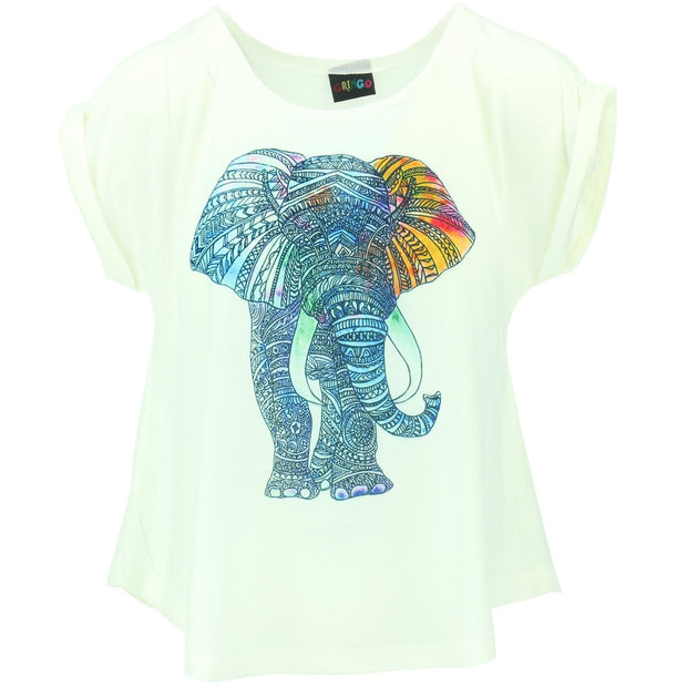 Sleeveless Elephant Top - White