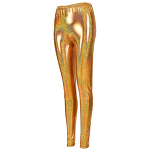 Shiny Leggings - Gold