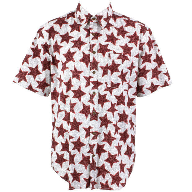 Regular Fit Short Sleeve Shirt - Red Stars