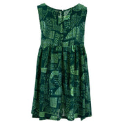 The Shroom Dress - Green Retro Geometric