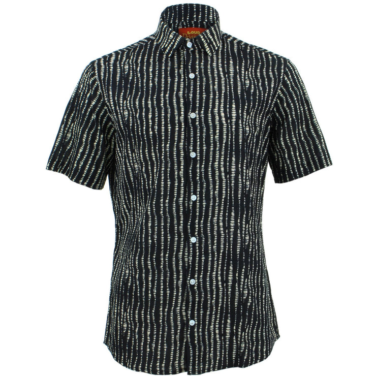 Slim Fit Short Sleeve Shirt - Spine Lines
