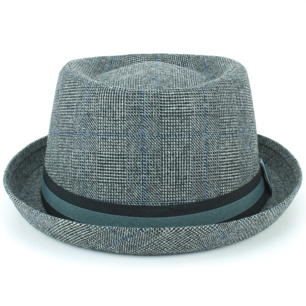Tweed Porkpie Hat - Light Grey