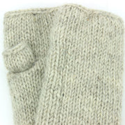 Wool Knit Arm Warmer - Plain - Light Grey