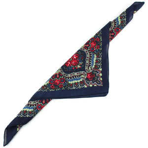 Bandana Face Cover Mask - Paisley Navy