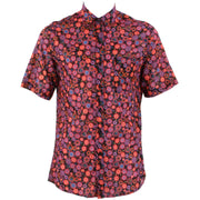 Regular Fit Short Sleeve Shirt - Red Abstract Circles