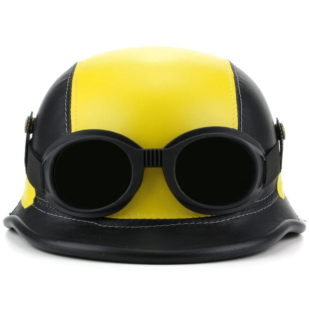 Combat Novelty Festival Helmet with Goggles - Yellow & Black