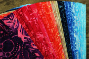 Cotton Batik Pre Cut Fabric Bundles - Charm Pack - Daylight Phases