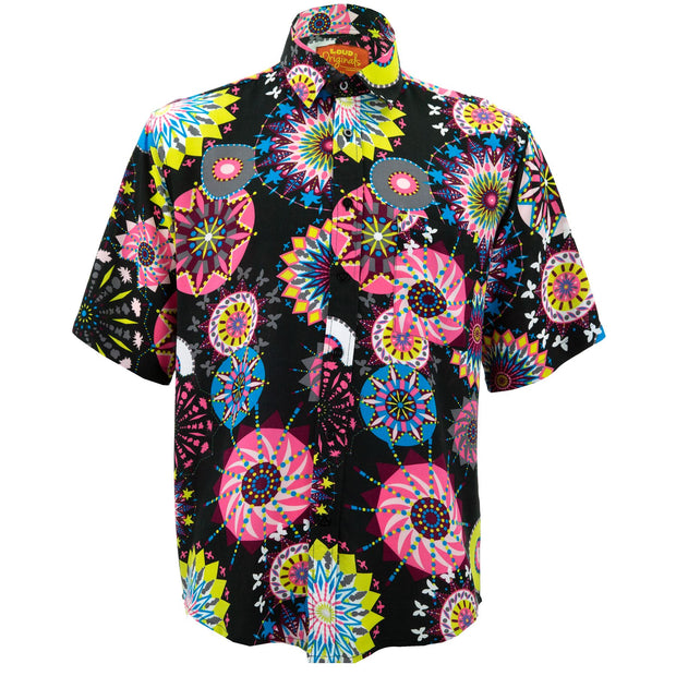 Regular Fit Short Sleeve Shirt - Carnival Suzani - Black