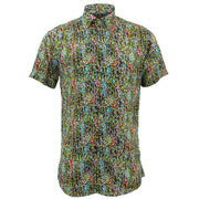 Tailored Fit Short Sleeve Shirt - Multi Ditzy