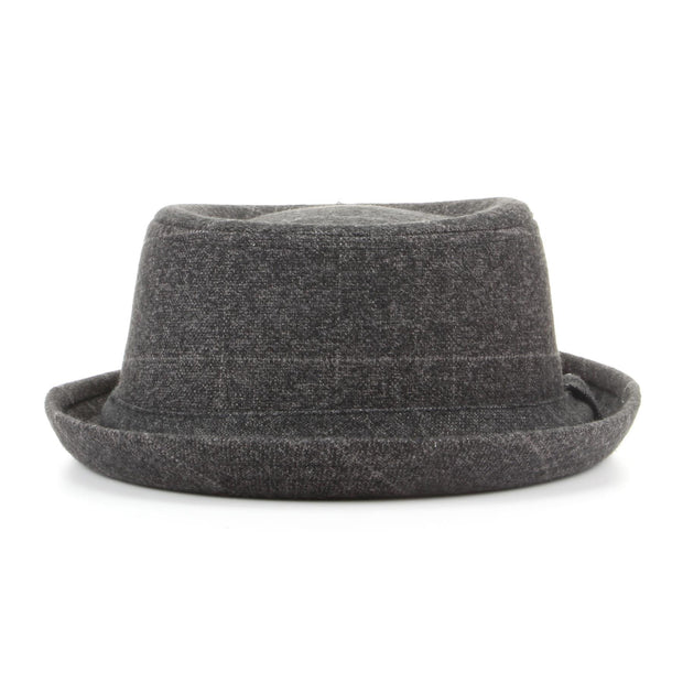 Tweed Pork Pie Hat - Grey