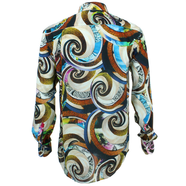 Regular Fit Long Sleeve Shirt - Purple Abstract Swirls