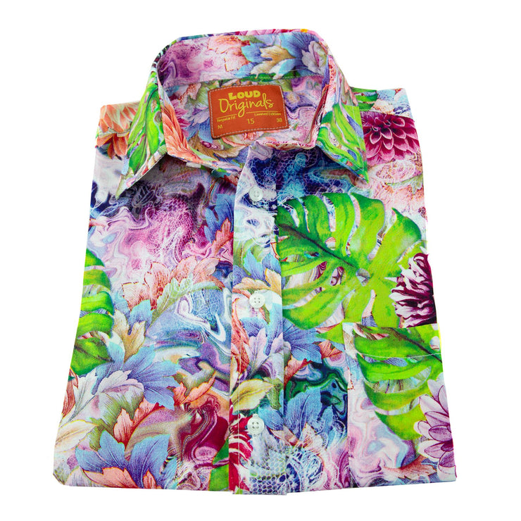 Regular Fit Long Sleeve Shirt - Tropical Bloom
