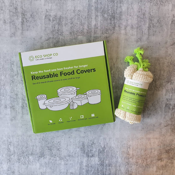 Eco Reusable Food Cover & Produce Bag Set | Zero Waste | Eco-Friendly