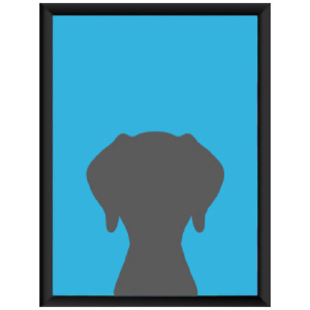 Framed Poster - Plain Blue