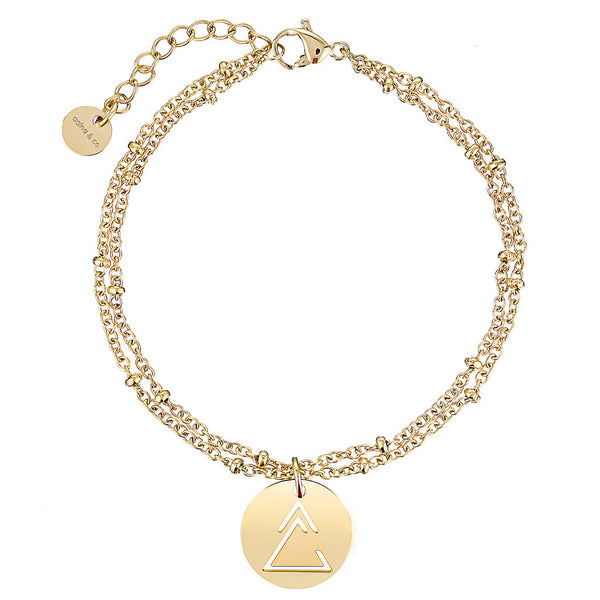 Unclosed Delta Ball Chain Bracelet
