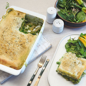 Spring Lasagne with Almond Bechamel