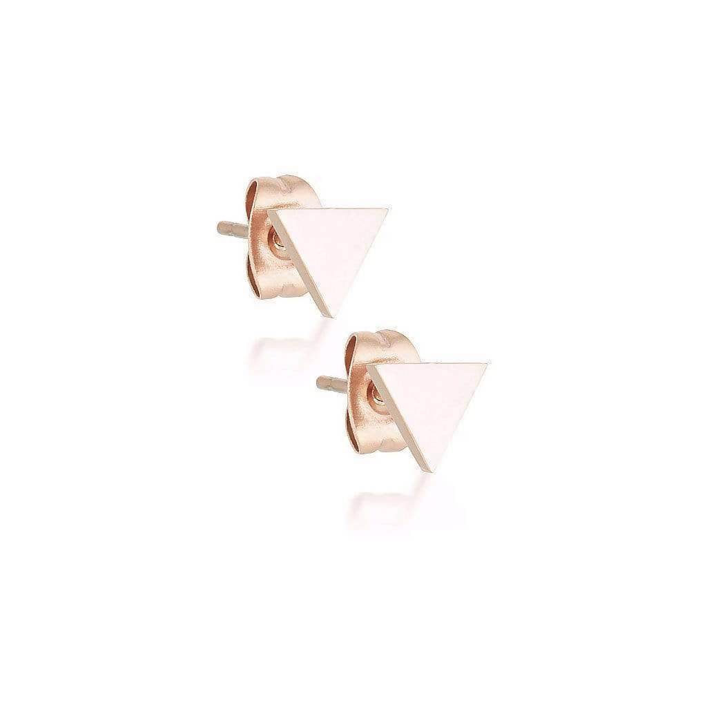 Rose gold Triangle Studs