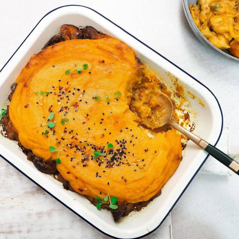 Curried Roast Vegetable Shepherd's Pie