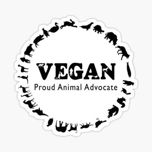 Vegan, Proud Animal Advocate - Sticker
