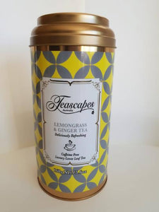 Teascapes Lemongrass & Ginger Organic Tea 160g Tin