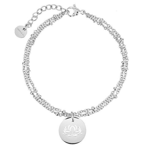 Lotus Flower Ball Chain Bracelet
