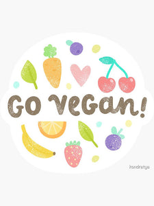 Go Vegan Fruits Sticker