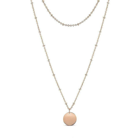 Ball Chain Necklace with engravable Charm