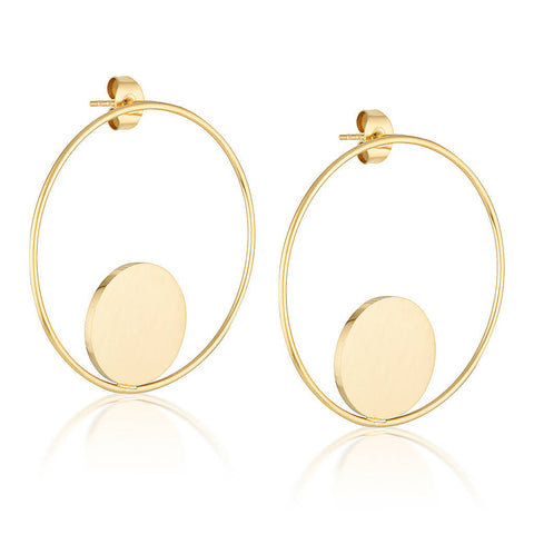 Circle of Life Hoop Earrings