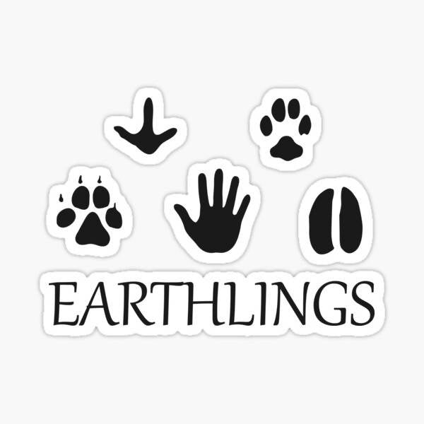 Earthlings Animal Paws - Sticker