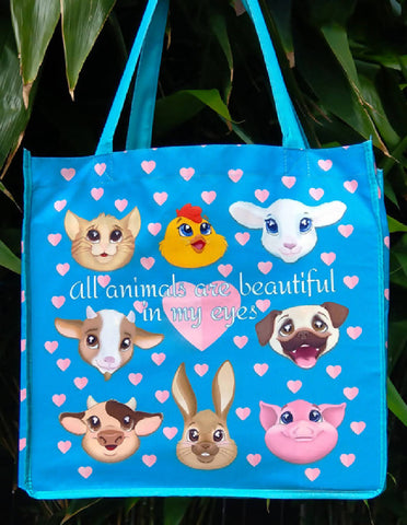 All Animals Are Beautiful Tote Bag