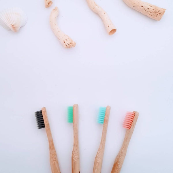 Eco Bamboo Toothbrush Set of 4 | Biodegradable | Natural | Vegan | Free Shipping