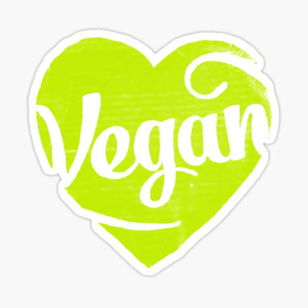 Vegan Heart - Sticker