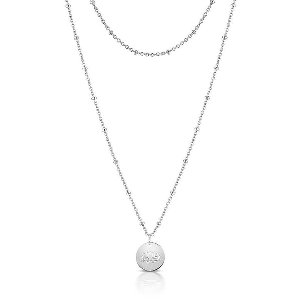 Lotus Ball Chain Necklace