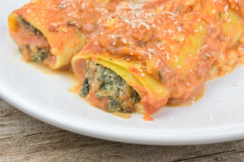 Cannelloni with Spinach & Cashew Cheeze