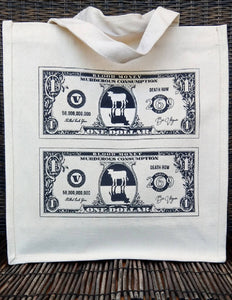 Dollar Bill Vegan Canvas Bag