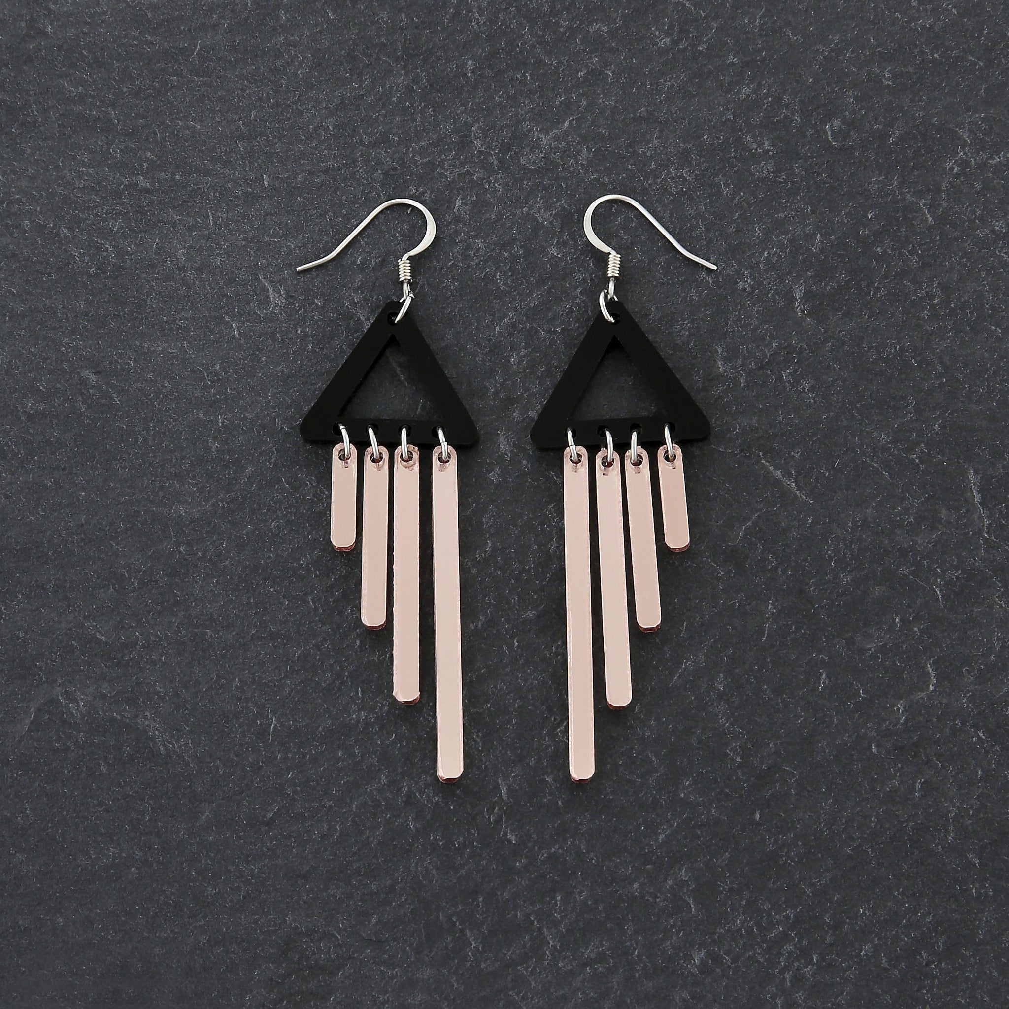 + ROSE GOLD CHIMES DANGLES + NECKLACE