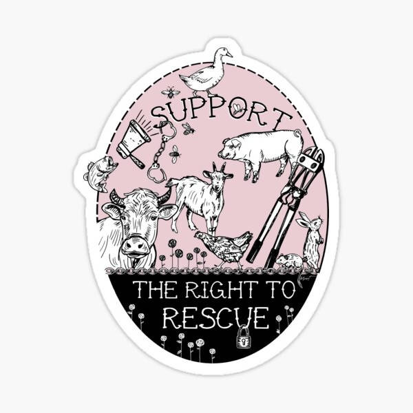 Support The Right To Rescue Sticker