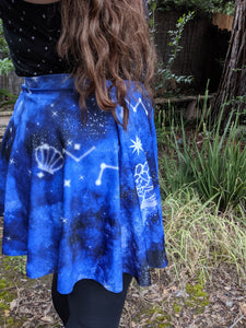 Starry Night Pocket Skirt, MADE TO ORDER