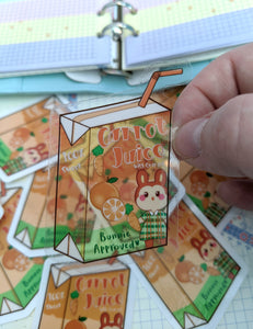 AC Juice Box Clear Stickers