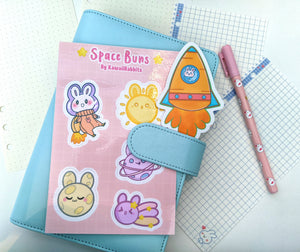 Space Buns 4x6 Sticker Sheet& Carrot Rocket (Patreon Exclusive)
