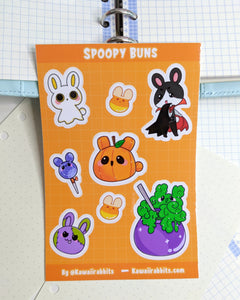 Spoopy Buns 4x6 Sticker Sheet