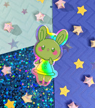 "Load image into Gallery viewer, 3"" Alien Bun Holographic Sticker"