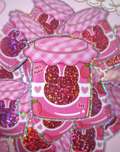 Load image into Gallery viewer, Strawbunny Jam Vinyl Glitter Sticker