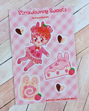 Load image into Gallery viewer, Strawbunny Sweets 4x6 Sticker Sheet (Patreon Exclusive)