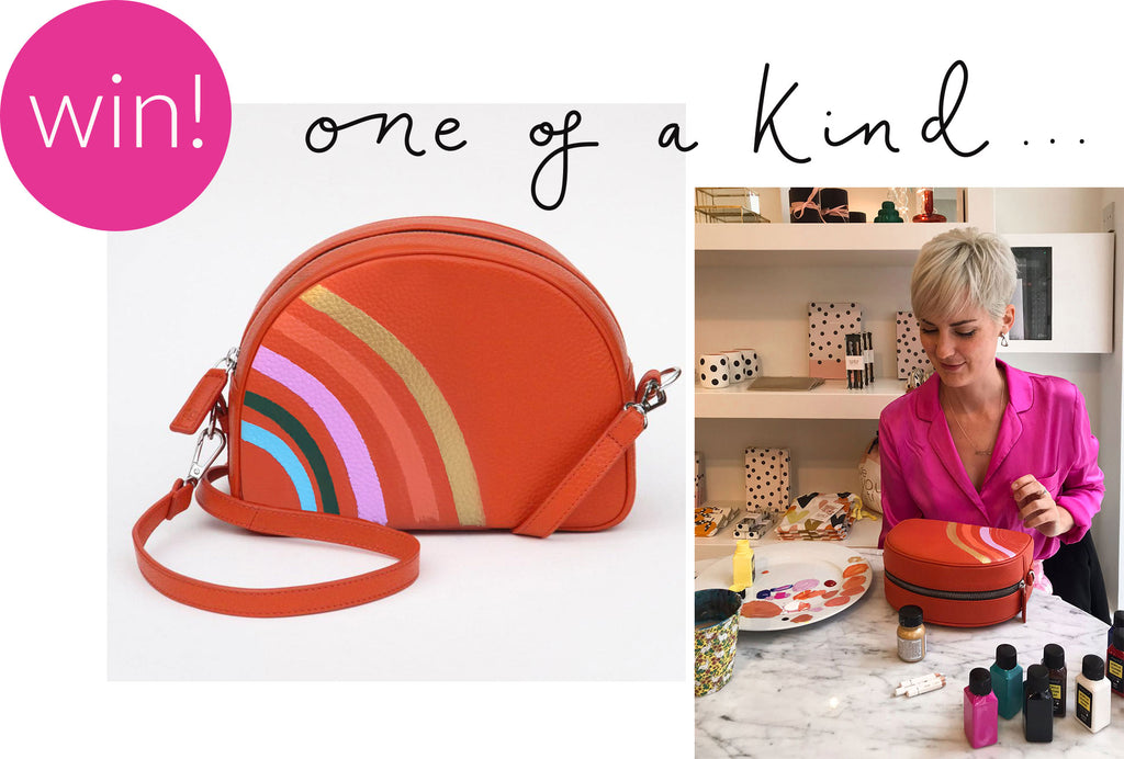 Win a hand-painted leather bag